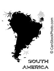 south america continent - illustration of the south america