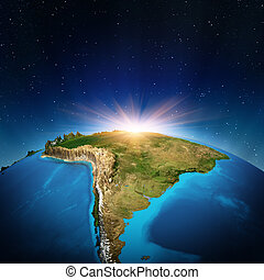 South America from space. Elements of this image furnished by NASA