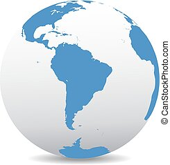 South America Global World - Icon of the World Globe
