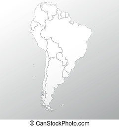 South America map background vector - South America map on...