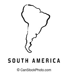 South America map - South America simple map outline - ...