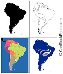 South America Maps Collection