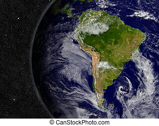 South America on planet Earth - South America region on ...