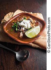 South American Aztec Soup - Fresh hot South American Aztec...