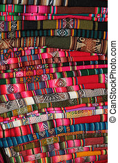South American traditional fabric - Traditional Bolivian...