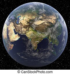 South Asia - Earth from Space