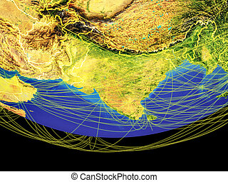 South Asia from space on Earth