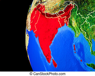 South Asia from space