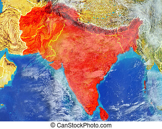South Asia on Earth from space