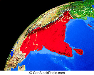 South Asia on Earth from space - South Asia from space....