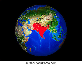 South Asia on Earth from space - South Asia on planet planet...
