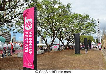 South Bank Parklands - Brisbane Australia - BRISBANE, AUS -...