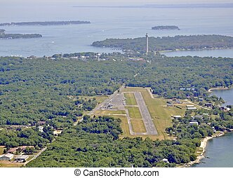 South Bass Island Airport aerial