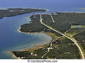 South Baymouth Manitoulin Island aerial