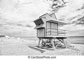 South Beach, Miami, Florida. lifeguard house