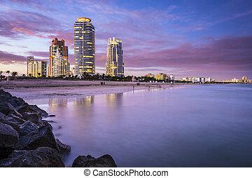 South Beach, Miami, Florida - Miami, Florida, USA at South...