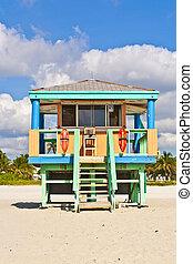South Beach Miami Lifeguard Tower - South Beach Miami...