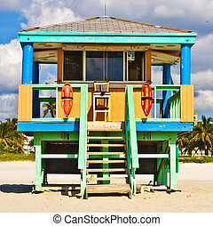 South Beach Miami Lifeguard Tower