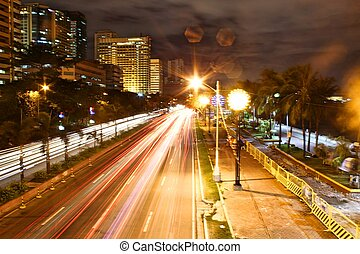 South Bound, Roxas Boulevard - The traffic flows smoothly at...