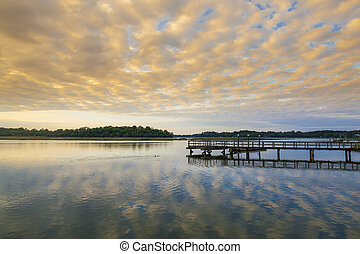 South Carolina at sunset - South Carolina lowcountry at...