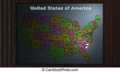 North carolina pull out from usa states abbreviations map ...