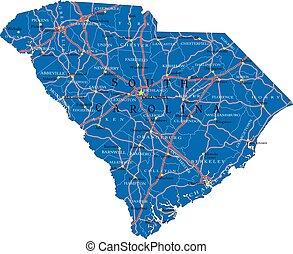 South Carolina state political map