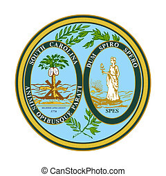 South Carolina state seal - Seal of American state of South ...