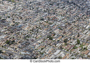 South Central Los Angeles Aerial