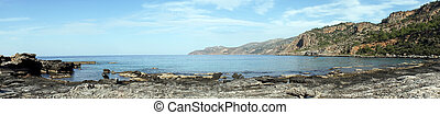 South coast of Crete in Greece