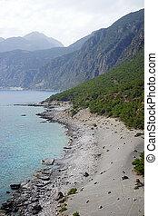 South coast of Crete island, Greece
