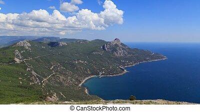 South Crimea, Laspi Bay. TimeLapse. UltraHD (4K)
