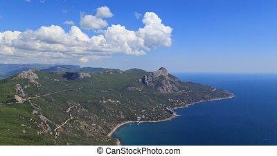 South Crimea, Laspi Bay. Zoom. TimeLapse. UltraHD (4K)