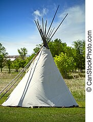 South Dakota Lakota Tribe Wigwam. A Wigwam Is a Domed Room Dwelling Used by Certain Native American Tribes Like Lakota. Wigwam ( or Wickiup ) Vertical Photography. South Dakota, U.S.A.