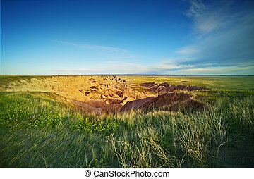South Dakota Prairies - South Dakota Summer Landscape. North...