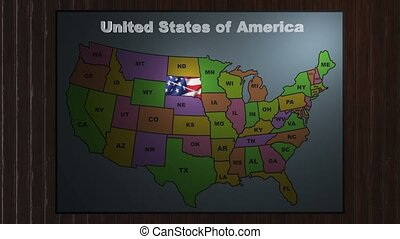 South carolina pull out from usa states abbreviations map ...