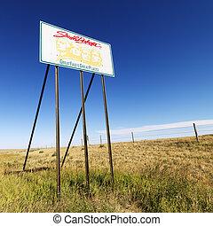 South Dakota road sign.