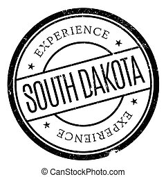 South Dakota rubber stamp. Grunge design with dust...