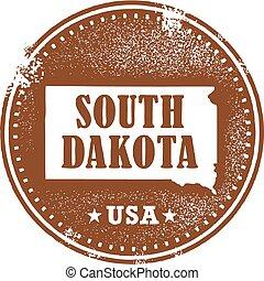 South Dakota USA State Stamp
