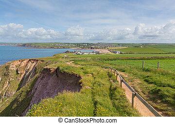 South Devon coast path Thurlestone