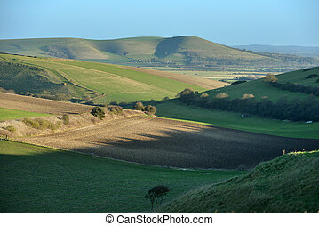 South Downs national park in East Sussex