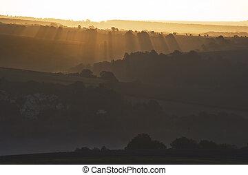 South Downs Sunbeam Sunrise