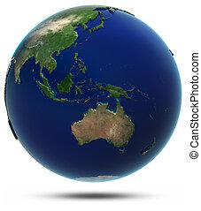 south-east, ásia, e, oceania