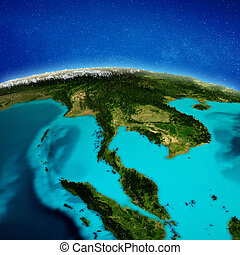 South-east Asia background