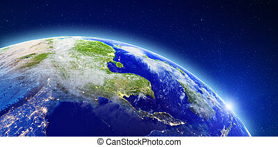 South-east Asia - Bangkok, Thailand. Elements of this image furnished by NASA. 3d rendering