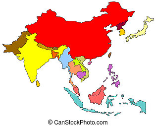 Map of south east asian countries