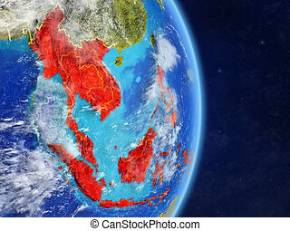 South East Asia on planet Earth