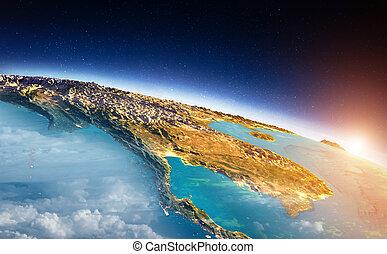 South-east Asia sunrise