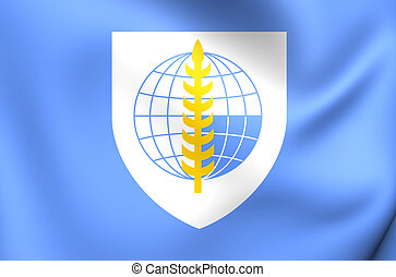 South East Asia Treaty Organization Flag. Close Up.