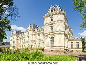 South facade of Potocki Palace in Lviv, Ukraine