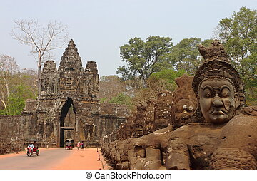 South Gate in Angkor, Siem Reap, Cambodia
